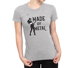 fare chitarre Sconti T-Shirt da donna IN METALLO Heavy Thrash Death Guitar Drum Rock Novità Novità Divertente spedizione gratuita Unisex Casual Maglietta top