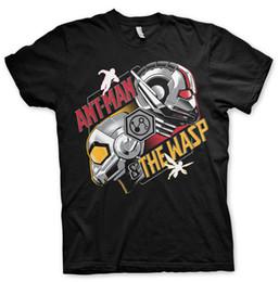 T-Shirt uomo autorizzata ufficiale Ant-Man e Wasp Taglie S-XXL (nero) T-shirt maglietta economica all'ingrosso Tee100% cotone per uomo cheap black ant wholesale da commercio all'ingrosso ant nero fornitori