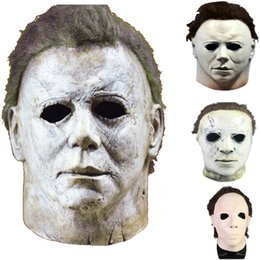 maschera viso di film spaventosa Sconti 4 Styles Michael Myers Mask Halloween Party Mask Horror Movie Cosplay Adult Latex Full Face Helmet Halloween Party Scary Props HH9-2438