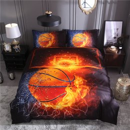 3d quilts covers king size Coupons - 20 3D Basketball Printed Football Bedding Sets Queen Size 2pcs 3pcs Duvet Cover Set Bed Linen Quilt Cover
