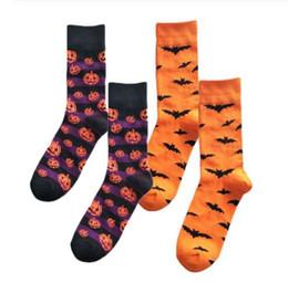 Halloween socken freies verschiffen online-Halloween Männer Frauen Socken Cotton Sockings Kürbis Socken Sweat Absorbent Breathable Socken 5 Styles Kostenloser Versand