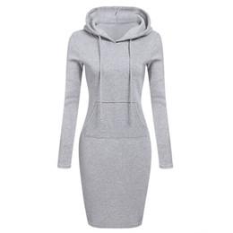 vestido de camurça de lã Desconto Venda quente Moda Com Capuz Cordão Fleeces Mulheres Vestidos Outono Inverno Quente Vestido Mulheres Vestidos Hoodies Moletom Vestido