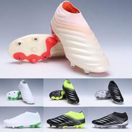 Mujeres y futbol online-2019 Copa 19+ FG AG Zapatillas de fútbol para hombre 19+ 19.1 Copa del mundo Champagne Botas de fútbol solares Scarpe Calcio Tacos baratos 38-45