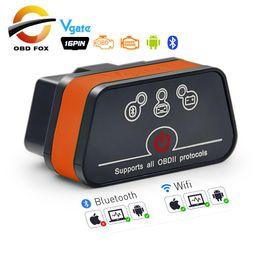 wlan bluetooth Desconto 327 V2.1 OBD 2 wi-fi icar scanner de diagnóstico 2 auto varredor vGATE iCar2 ELM327 obd2 Bluetooth elm para o leitor android / PC / IOS código