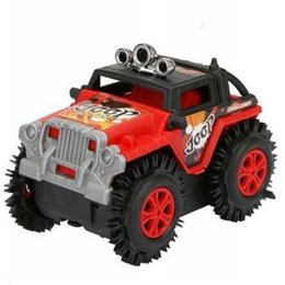 Parada de carro on-line-Barraca de mercadorias crianças toys elétrica jeep car toys off-road derrubando balde crianças brinquedos presentes adesivos de parede motocross