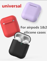 versão sem fio Desconto Universal Para A Apple Airpods12 versão sem fio Silicone Caso TPU Macio Ultra Fino Capa Protetora para Airpods2 Caso Fone de Ouvido