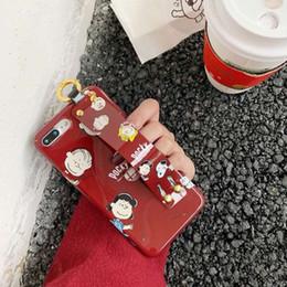 мобильный телефон собаки Скидка Mytoto смешной милый мультфильм собака семья браслет мода мобильный телефон чехол для iphone 6 6s 6plus 7 8 plus X XR XS MAX