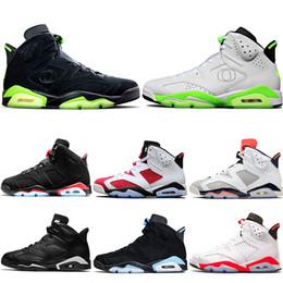 laços infravermelhos Desconto Nike Air Jordan 6 Retro Sapatos de Basquete Tinker UNC Azul Preto Gato Branco Infravermelho Vermelho Carmine Maroon Toro Mens Trainer Esporte Tênis Tamanho 41-47