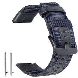 2019 ersatz für uhren Leder sportuhr nylon stoff band für samsung galaxy watch 42mm 46mm schnellspanner federstifte ersatz straps 22 20mm rabatt ersatz für uhren