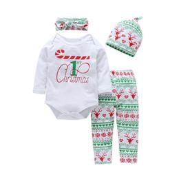 6ce7f39a5e6 good quality 2019 Baby Boy Girl Clothes Sets Cotton Headhand+Hat+Romper+Pant  4Pcs Babe Clothe Newborn Kids Christmas Clothes Sets