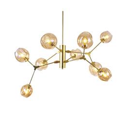 Lampadario moderno Lampadario a DNA Light Screw E27 5W lampada a sospensione a led Lampadario in vetro oro nero corpo droplight da