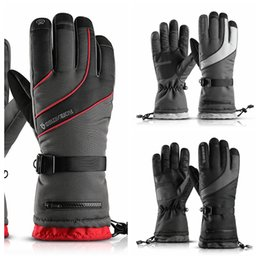 motorcycle goods Promo Codes - Golovejoy Ski Gloves Wind-proof waterproof men women outdoor mountaineering cold-proof thicker pockets keep warm Winter Bike Motorcycle Good
