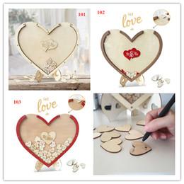 100 pcs coeurs unique décoration de mariage rustique doux mariage livre d'or coeur boîte de dépôt de mariage boîte de dépôt 3D livre d'or ? partir de fabricateur