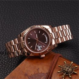 rose time Coupons - 2019 DAYDATE Rose Gold Luxury Watch Day-Date President Watch Automatic Luxury Watch Relo Reloj