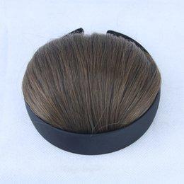 Argentina Material sintético de seda de alta temperatura más vendido con diadema Qi Liu Hai negro / marrón / blanco 8 colores opcionales con botones fáciles de usar Suministro