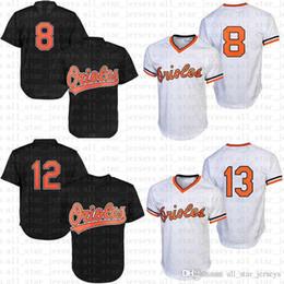 2dafa58b5a2 Baltimore Baseball Jerseys Orioles Mens 12 Roberto Alomar 13 Manny Machado  jersey black white 8 Cal Ripken Jr. 10 Adam Jones