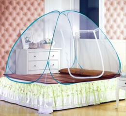 Re net online-Più nuovo portatile caldo pop-up tenda da campeggio letto a baldacchino zanzariera matrimoniale completa matrimoniale king size14