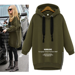 4e315c0db0c7 New Arm Green New Winter Autumn Loose Hooded Jacket Plus Size Thick Velvet Long  sleeve Sweatshirt Korean Style Hoodies