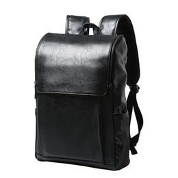 52a9604abcd3 2019 New Men s Fashion Style Leather Backpack Big Men Business Computer Bag  Big Laptop Male Travel Bag Teenager School Bag Boy