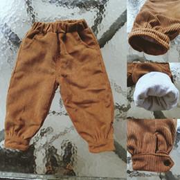 2019 tuta da ginnastica cordura Tuta bambini 2018 Spring New Baby Boy Pantaloni casual Pantaloni di velluto a coste Velluto caldo Abbigliamento bambini Toddler Harem tuta da ginnastica cordura economici
