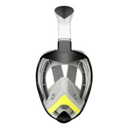 2019 mascara de entrenamiento para Antiniebla Deportes Verano Entrenamiento no tóxico Portátil Cara Completa Natación Buceo Máscara Impermeable Ajustable Plegable Bajo el agua rebajas mascara de entrenamiento para
