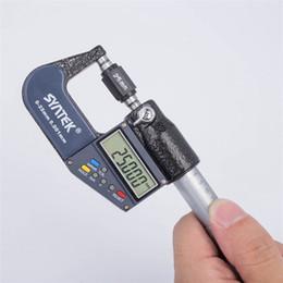 eletrônica cromada Desconto 0.001mm Micrômetro Digital 0-100mm Eletrônico Micrômetros Fora Cromado Caliper Calibre Ferramentas de Medição 0-25-50-75-100mm em caixa de varejo