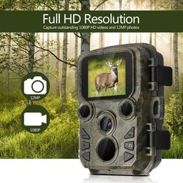 câmera de vídeo rápida Desconto Mini Caça Câmera 12MP 1080 P Wildlife Trail Foto Trap 0.45 S Fast Disparador À Prova D 'Água Nihgt Vision Video Recorder Câmeras Selvagens