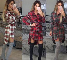 6bfaf3cfe6 Reino Unido para mujer Camisa a cuadros Mini vestido para mujer de manga  larga a cuadros Romper vestido tamaño 6-14