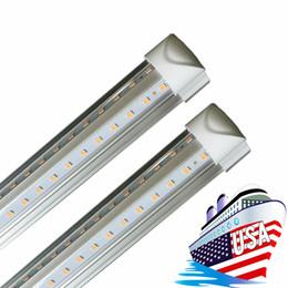 Barra da 24 pollici online-V forma di LED tubi integrati 4ft 5 piedi 6 piedi 8 piedi 8 piedi 72 pollici Bubs LED 24 T8 LED illumina doppia Retro illuminazione