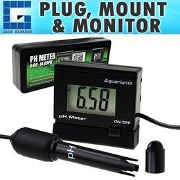 Canada PH-025RE Moniteur de pH numérique Mètre ATC 0 ~ 14.00pH Sonde d'électrode remplaçable BNC Kit de surveillance de la qualité de l'eau Aquarium Hydroponics Offre