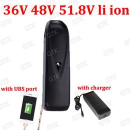 14s 52V 18650 Batería de litio 51.8V 12AH Indicador LED de iones de litio BMS hailong para 48V Batería de bicicleta eléctrica + Cargador 2A desde fabricantes