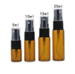 Kleine sprühflaschen online-2, 3, 5, 7, 10, 15 ml mini tawny Glassprühflasche Zerstäuber kann Parfümflasche kleine Flasche feinen Nebel Kosmetik Probe Geschenkbox nachfüllen
