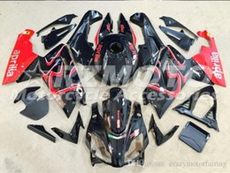 rs4 kit Coupons - Injection mold Fairing KIT for Aprilia RS4 125 06 07 08 09 10 11 RS4 RSV 125 2006 2009 2011Black Red ABS Fairings set+3gifts APP5