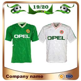 Calcio bianco verde online-1990 Irlanda retro soccer jersey 1990 coppa del mondo Irlanda home green Soccer Shirt Nazionale Squadra su misura Divise da calcio bianche Vendite
