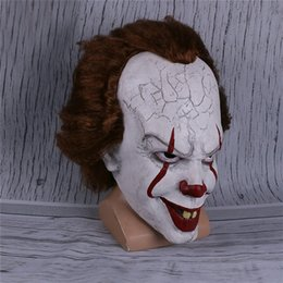 2019 Film Stephen King's It Pennywise Palyaço Joker Maske Tim Curry Maske Cosplay Cadılar Bayramı Partisi Sahne Maskesi nereden telefon motosikleti tedarikçiler
