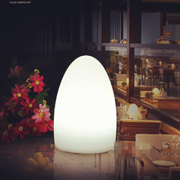 европейский барный стол Скидка Новый корейский европейский стиль освещения новые экзотические лампы EGG настольная лампа спальня кабинет ресторан под открытым небом украшения сцены настольная лампа