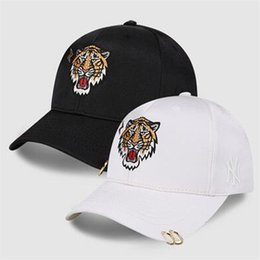 vr 46 hat Rebajas Cabeza de tigre bordado para hombre gorra de béisbol moda estilo hip hop doble aro sombrero deportes al aire libre protector solar tapa
