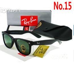 Óculos de sol wayfarer on-line-2019 Ray Marca óculos De Sol Do Vintage wayfarer Piloto Sun Glasses Bans UV400 Homens Mulheres Ben 50mm 54mm Lentes de Vidro com Caixa Caso