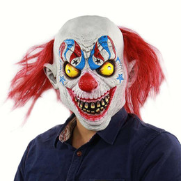 2019 maschere pagliaccio raccapriccianti Clown Mask Latex Halloween Ghastful Realistico Scary Creepy Tongue OutCosplay Costumi Halloween Costume Cosplay Puntelli maschere pagliaccio raccapriccianti economici
