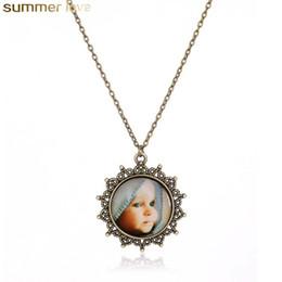 gioielli in miniatura all'ingrosso Sconti Collana in vetro cabochon fatto a mano in argento Collana in bronzo fatto a mano in miniatura carino per le donne Regali gioielli all'ingrosso