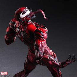 brinquedos do homem-aranha azul Desconto JOGAR ARTES 27 cm Venom Azul Vermelho em Spiderman Action Figure Modelo Brinquedos