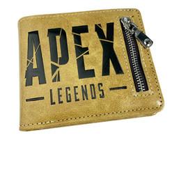 Apex Legends Wallet 2 estilos con el titular de la tarjeta Coin Pocket Hot Game hombres Monedero corto de dibujos animados Figura de Acción Juguetes para Niños Regalo al por mayor desde fabricantes