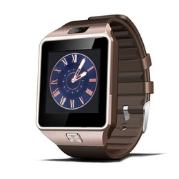 Умные часы mp3 онлайн-Smartwatch Bluetooth Smart Watch Reloj Relogio 2G GSM SIM App синхронизация Mp3 анти-потерянный для i-os Android телефонов PK DZ09