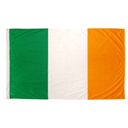 Frete grátis 100% Poliéster 90 * 150 cm voando verde branco orange nacional irlandês ie bandeira da irlanda Para A Decoração de