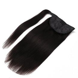 2019 rabo de cavalo preto ombre cabelo 9A-cavalo garra grampo Extensões de cabelo 100% brasileiro do Virgin peruana Malásia indiana Remy Humano Cabelo Liso Cavalinha Cor 1B Loiro 613