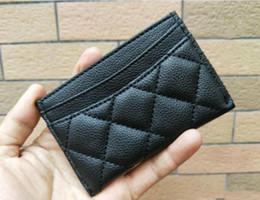 2019 classic Brand CC fashion Mini monedero con soporte famoso logo negro PU bolsa titular de la tarjeta Monedero de lujo Regalo VIP Regalo de boda desde fabricantes