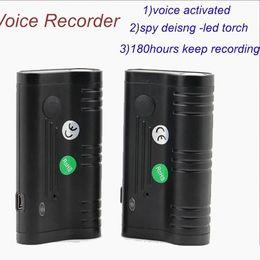 Super Magnetic 2600 mAh Voice Recorder 8G Audio Activated con torcia da