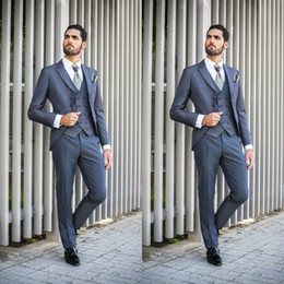 drei knopf-tuxedos-tailcoat Rabatt 2019 neueste hübsche hochzeit taille slim fit drei knopfanzüge für beste männer günstige eine taste bräutigam anzug
