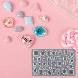 Padrão de unhas acrílicas on-line-3D Acrílico Mould para Nail Art Decorações DIY Design de Silicone Nail Art Templates Padrão manicure beleza Nails