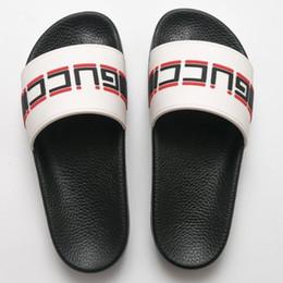 e9ad1c79296deb Italy Luxury Slippers Brand Designer Slides Genuine Leather Women s Sandals  Summer Flat Belt Logo Brand Slippers with Original Box